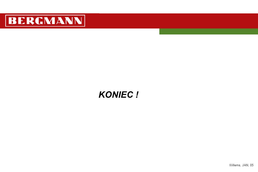 KONIEC ! Willems, JAN, 05