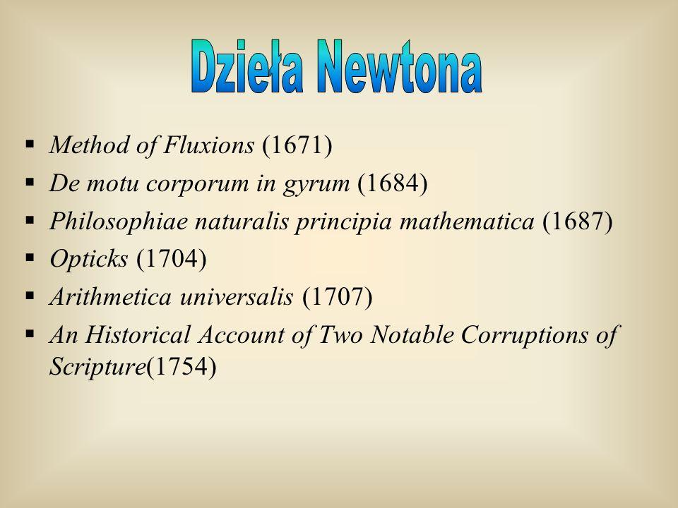 Dzieła Newtona Method of Fluxions (1671)