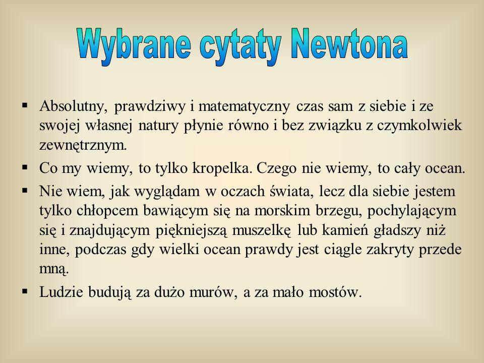 Wybrane cytaty Newtona