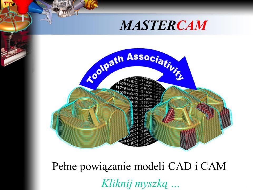 Pełne powiązanie modeli CAD i CAM