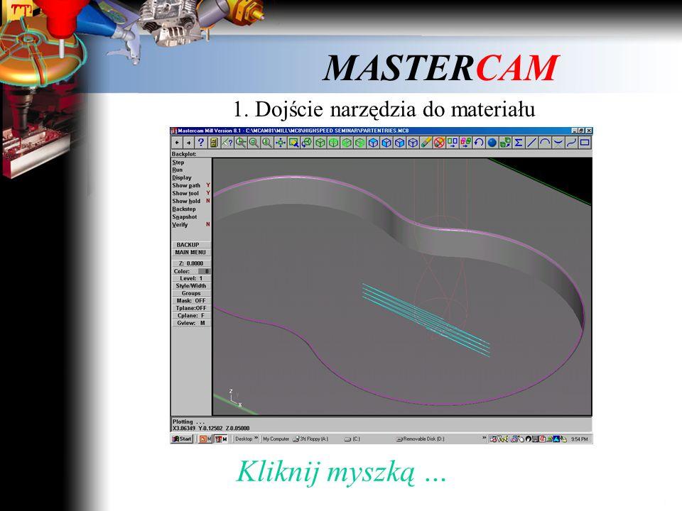 1. Dojście narzędzia do materiału