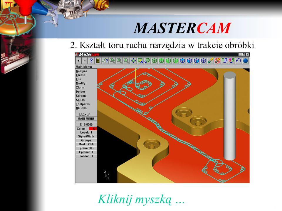 2. Kształt toru ruchu narzędzia w trakcie obróbki