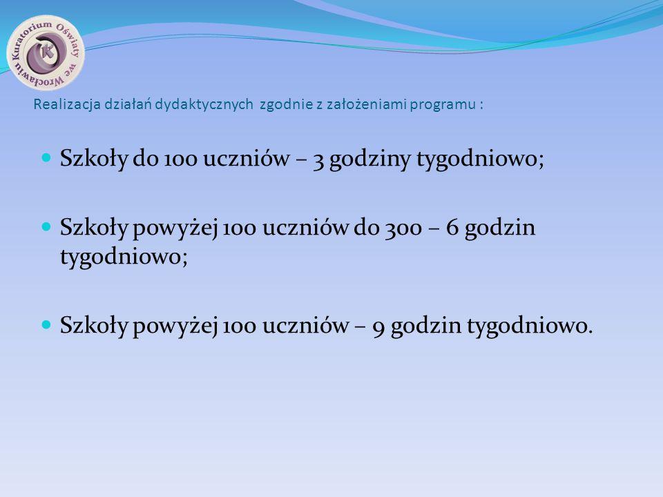Realizacja działań dydaktycznych zgodnie z założeniami programu :