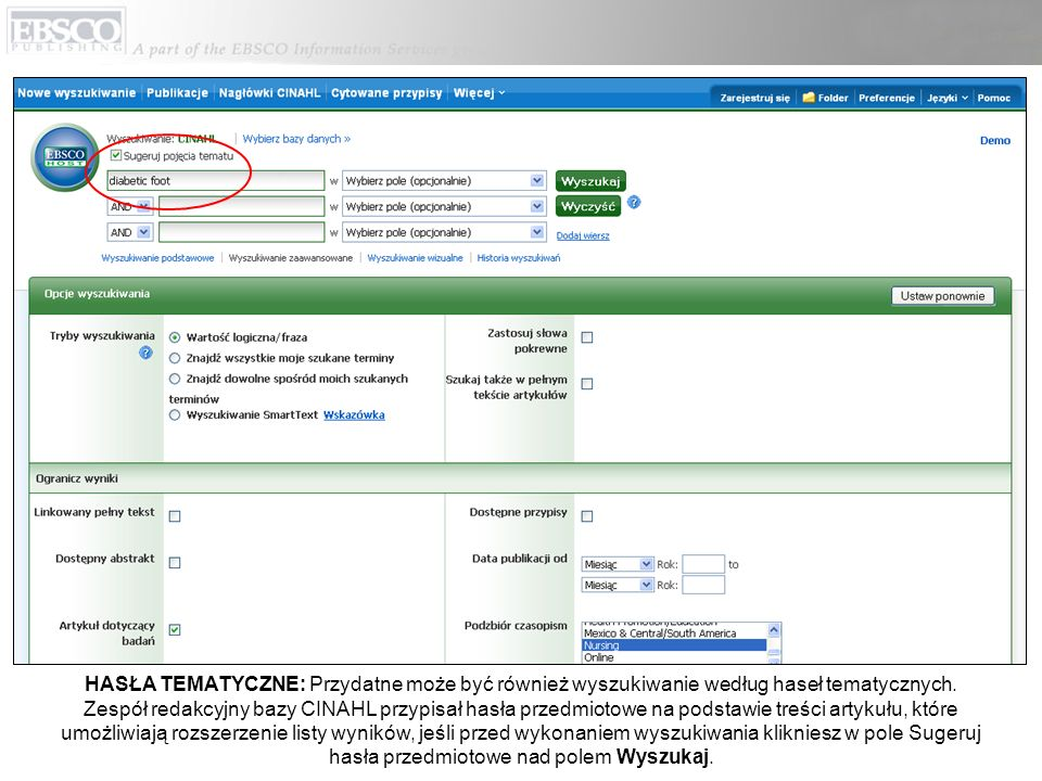 HASŁA TEMATYCZNE: Przydatne może być również wyszukiwanie według haseł tematycznych.
