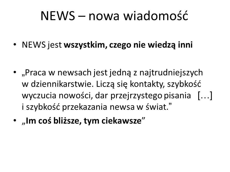 NEWS – nowa wiadomość NEWS jest wszystkim, czego nie wiedzą inni