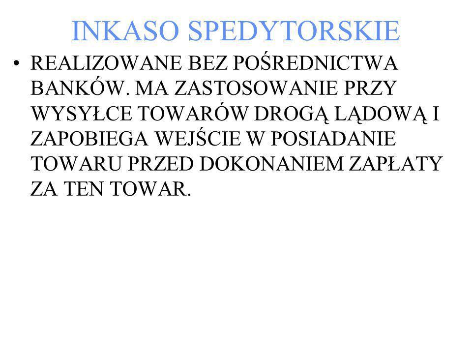INKASO SPEDYTORSKIE