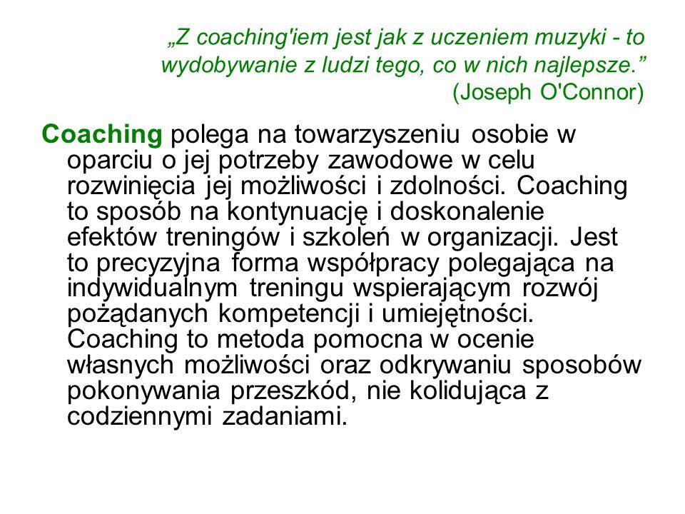"""""""Z coaching iem jest jak z uczeniem muzyki - to wydobywanie z ludzi tego, co w nich najlepsze. (Joseph O Connor)"""