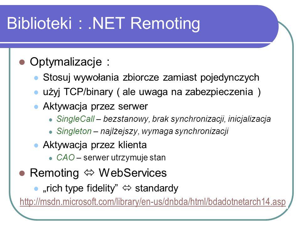 Biblioteki : .NET Remoting