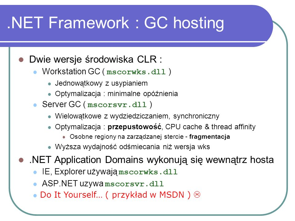 .NET Framework : GC hosting