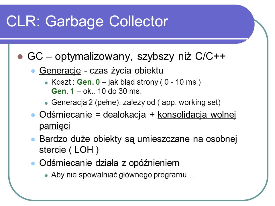 CLR: Garbage Collector