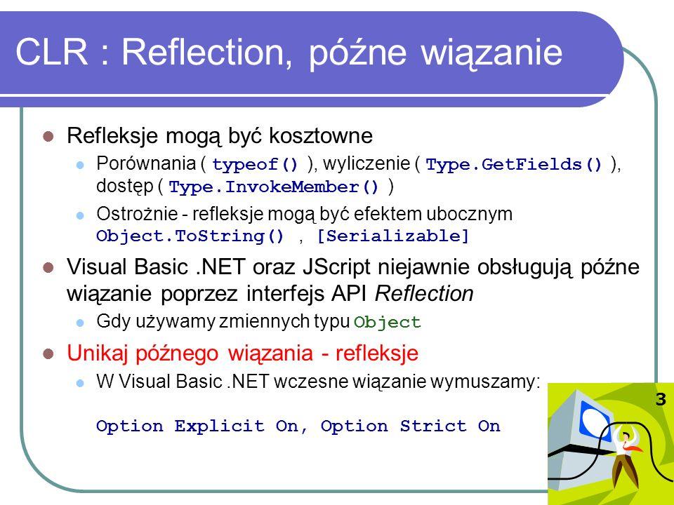 CLR : Reflection, późne wiązanie