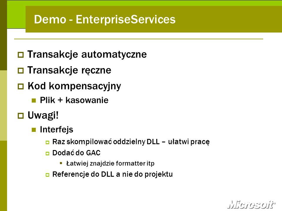 Demo - EnterpriseServices
