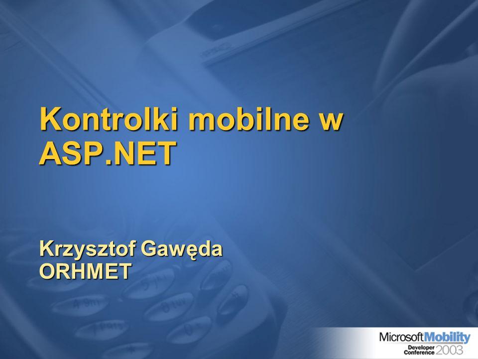Kontrolki mobilne w ASP.NET