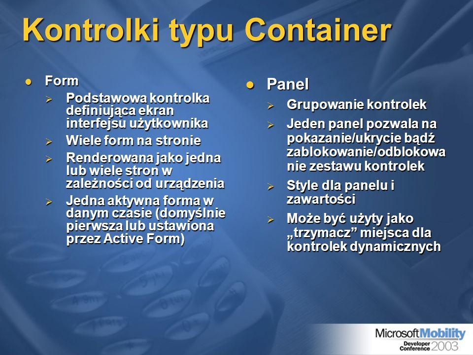 Kontrolki typu Container