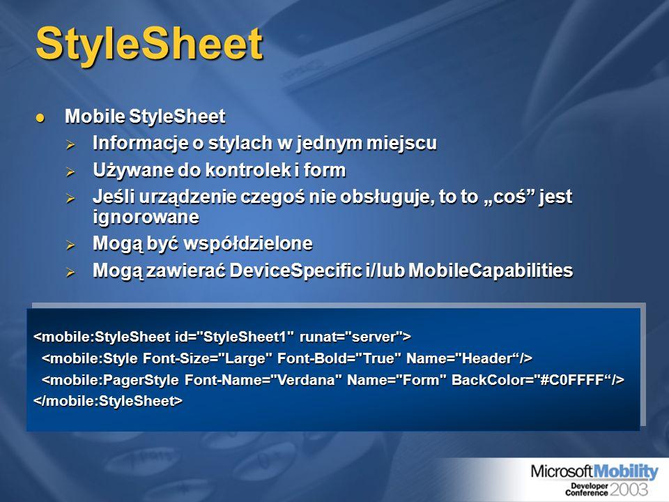 StyleSheet Mobile StyleSheet Informacje o stylach w jednym miejscu
