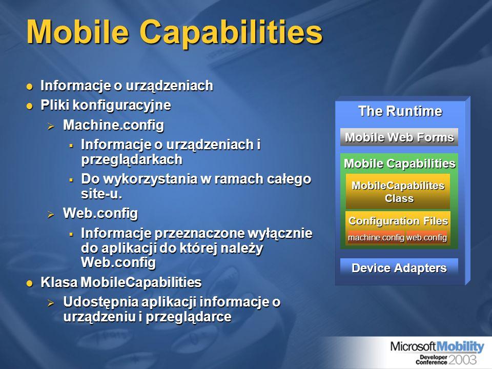 MobileCapabilites Class