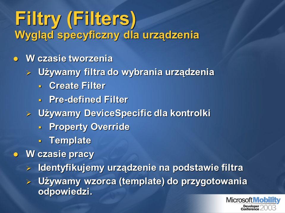 Filtry (Filters) Wygląd specyficzny dla urządzenia