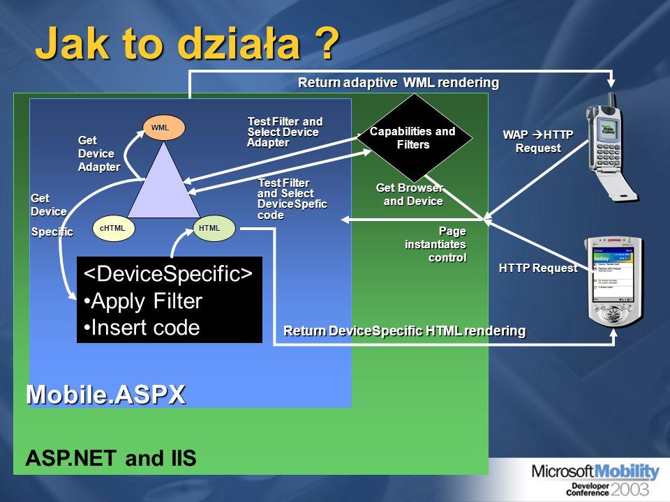 Jak to działa Mobile.ASPX <DeviceSpecific> Apply Filter