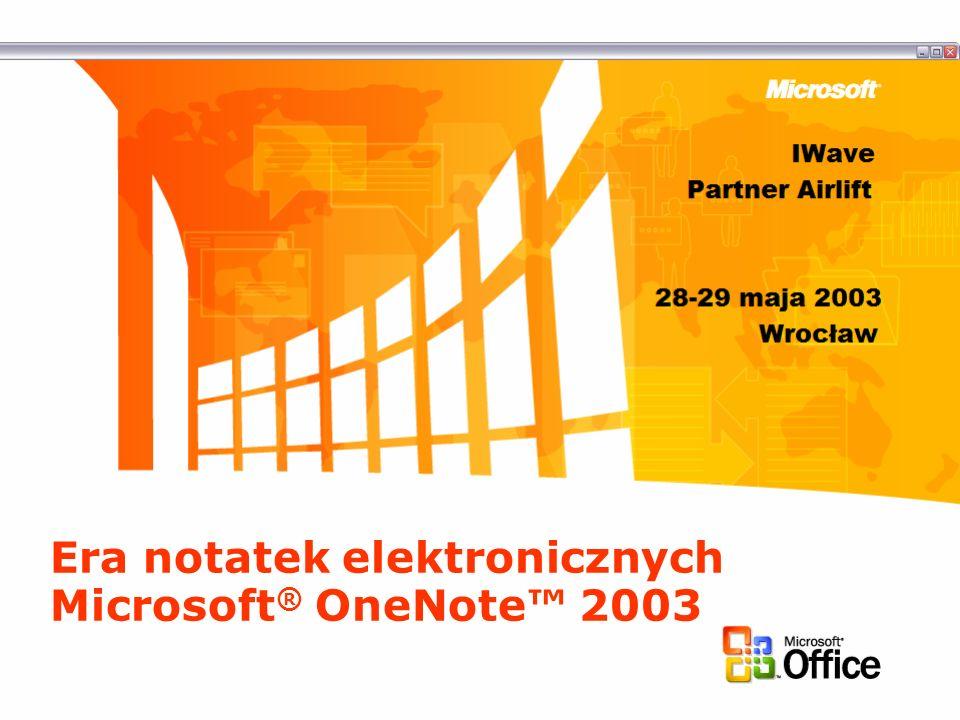 Era notatek elektronicznych Microsoft® OneNote™ 2003
