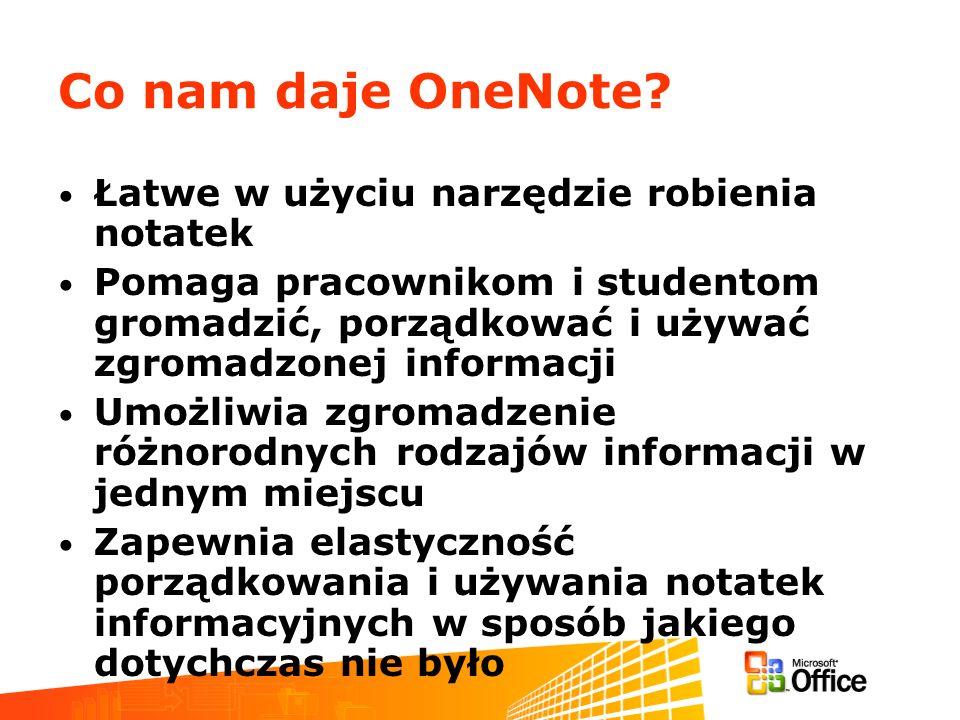 Co nam daje OneNote Łatwe w użyciu narzędzie robienia notatek