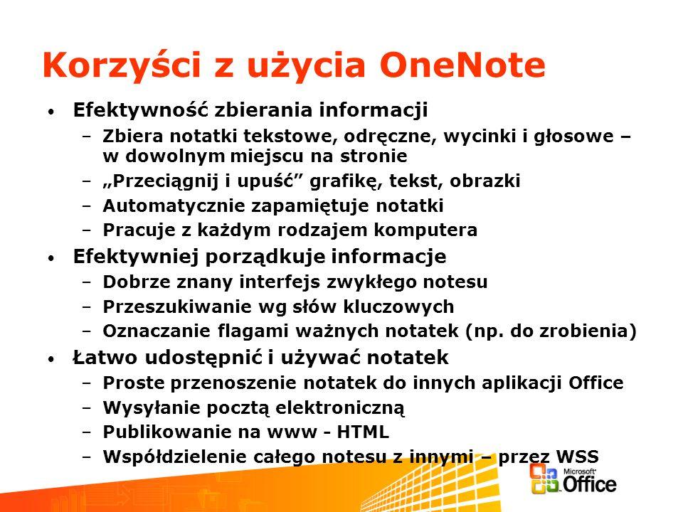 Korzyści z użycia OneNote