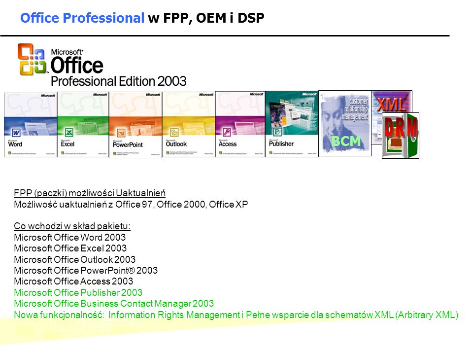 Office Professional w FPP, OEM i DSP