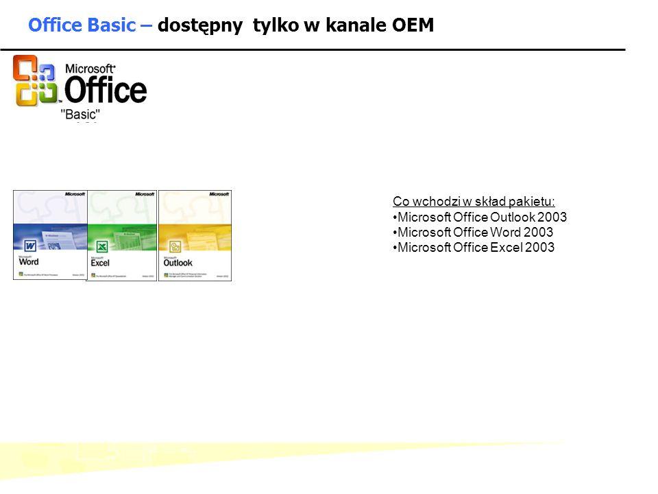 Office Basic – dostępny tylko w kanale OEM