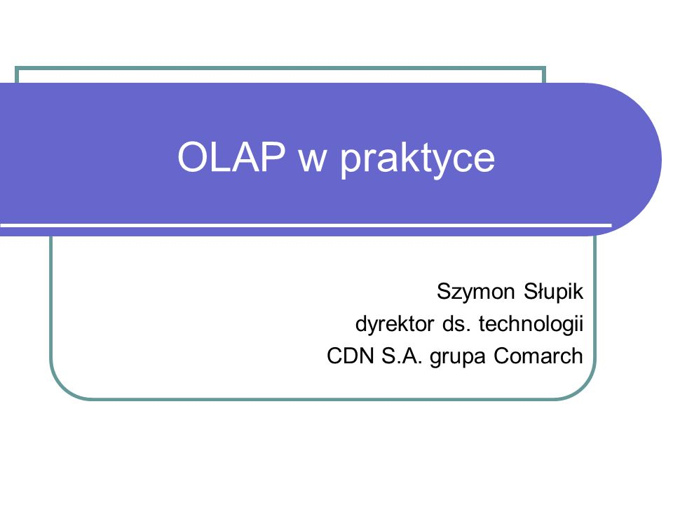 Szymon Słupik dyrektor ds. technologii CDN S.A. grupa Comarch