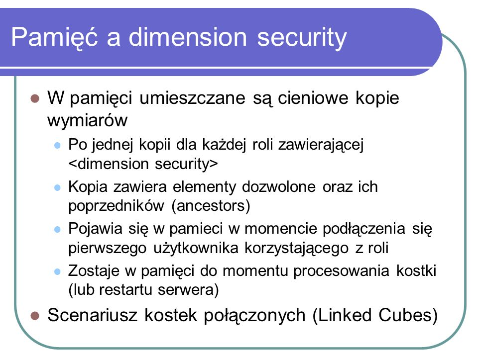 Pamięć a dimension security