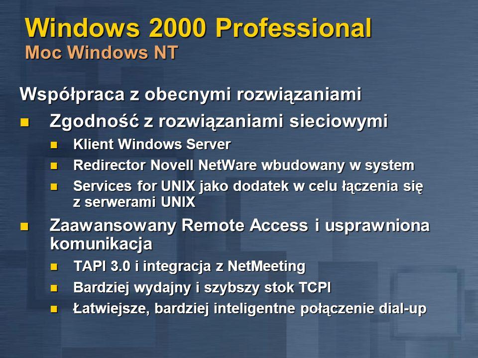 Windows 2000 Professional Moc Windows NT