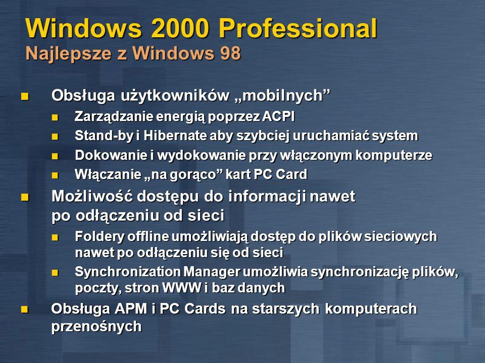 Windows 2000 Professional Najlepsze z Windows 98