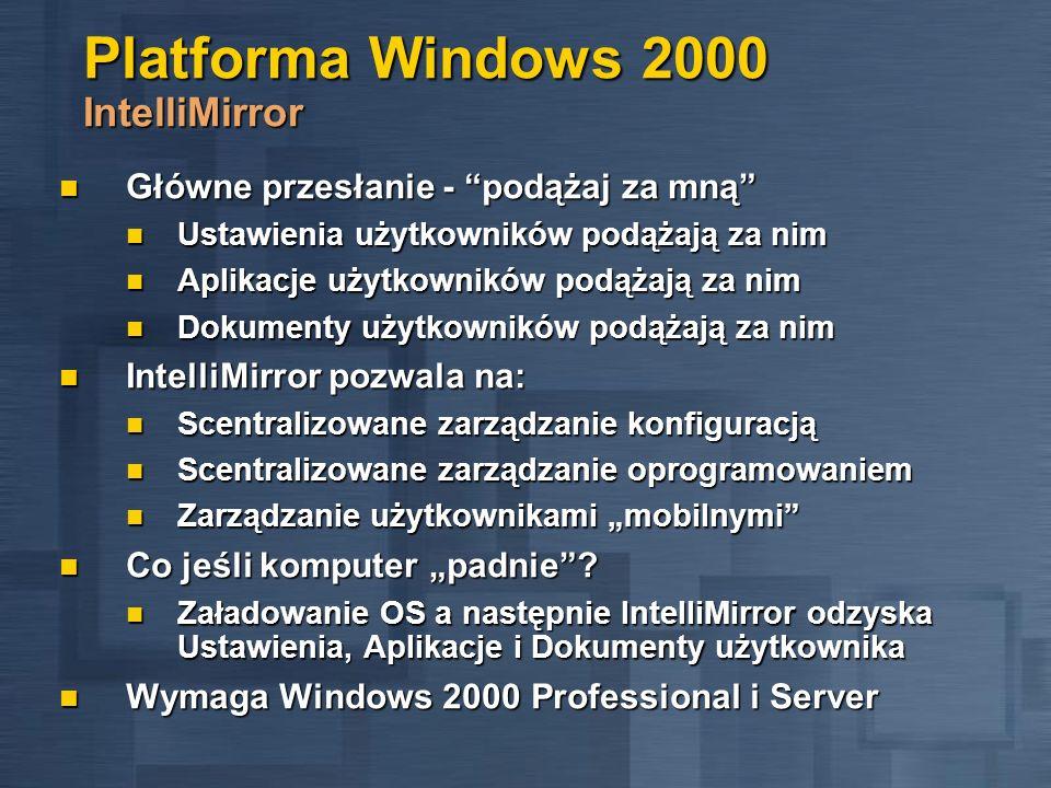 Platforma Windows 2000 IntelliMirror
