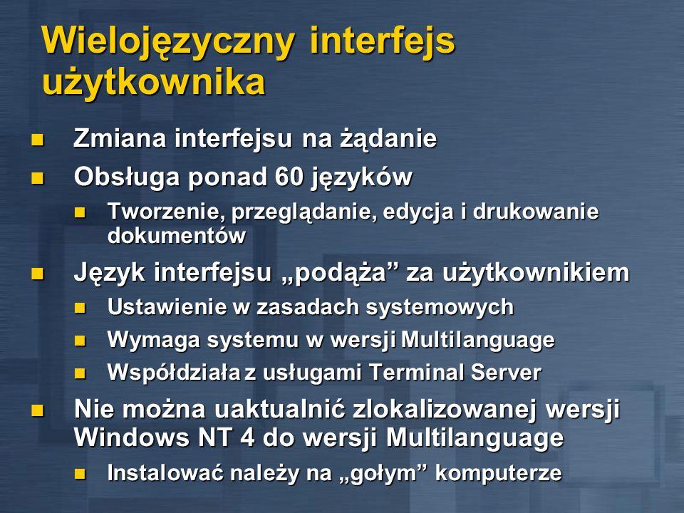 Wielojęzyczny interfejs użytkownika