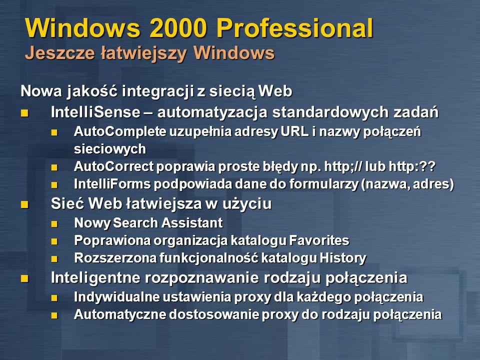 Windows 2000 Professional Jeszcze łatwiejszy Windows