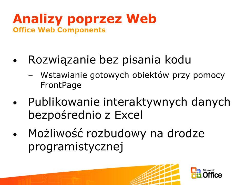 Analizy poprzez Web Office Web Components