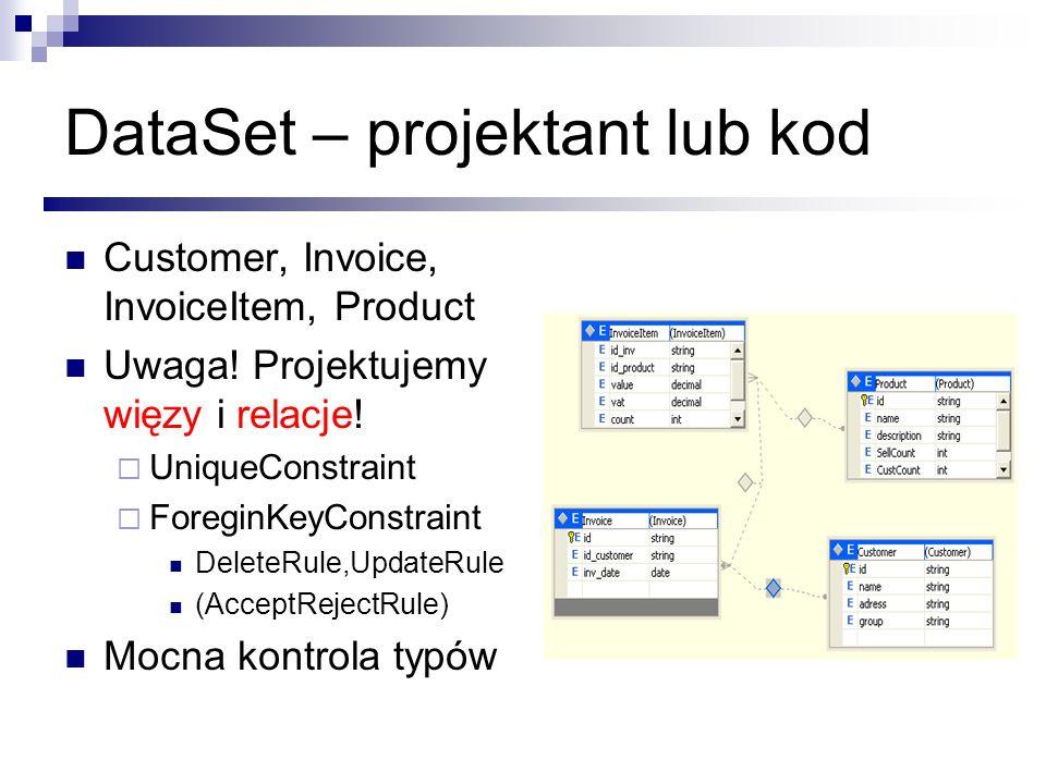 DataSet – projektant lub kod