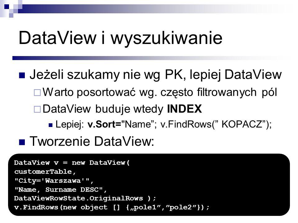 DataView i wyszukiwanie