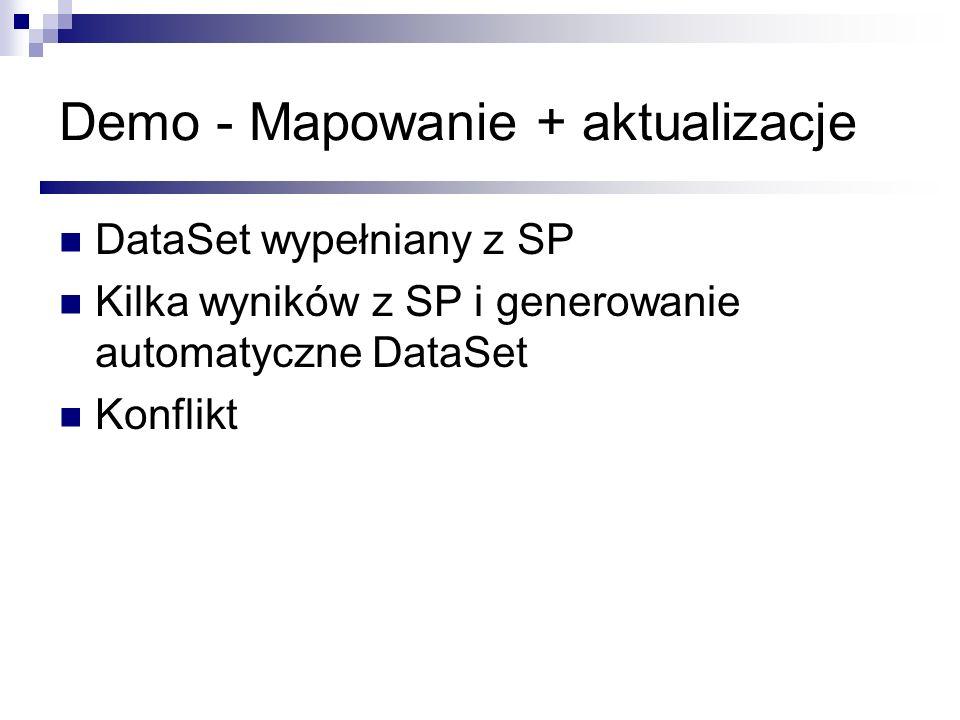 Demo - Mapowanie + aktualizacje