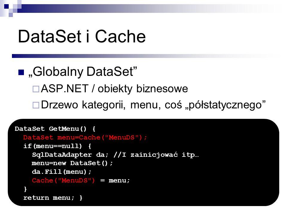 "DataSet i Cache ""Globalny DataSet ASP.NET / obiekty biznesowe"