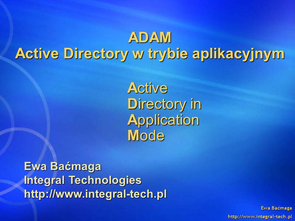 ADAM Active Directory w trybie aplikacyjnym