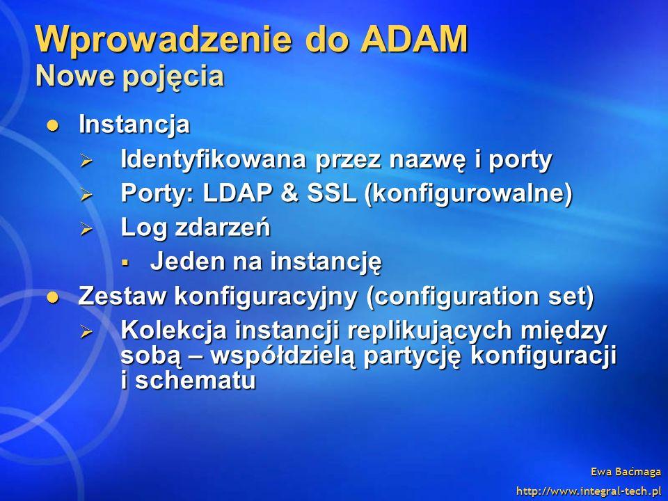 Wprowadzenie do ADAM Nowe pojęcia