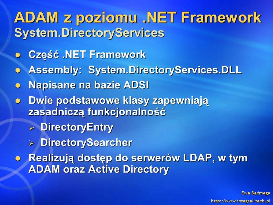ADAM z poziomu .NET Framework System.DirectoryServices