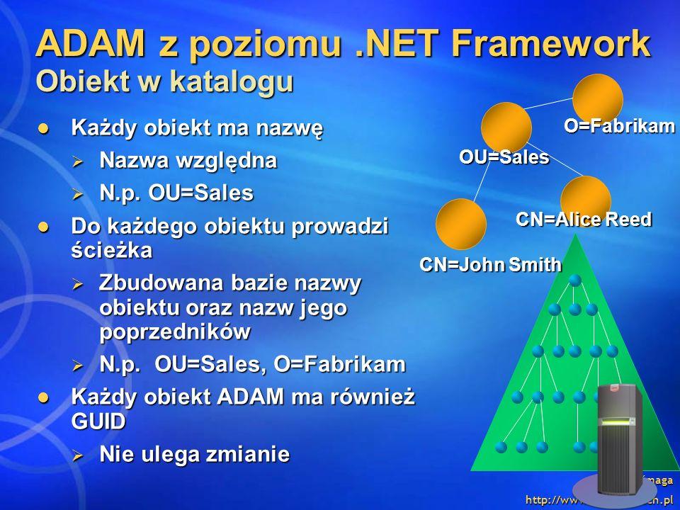 ADAM z poziomu .NET Framework Obiekt w katalogu