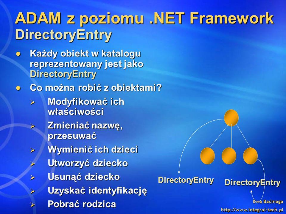 ADAM z poziomu .NET Framework DirectoryEntry