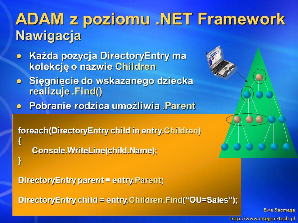 ADAM z poziomu .NET Framework Nawigacja