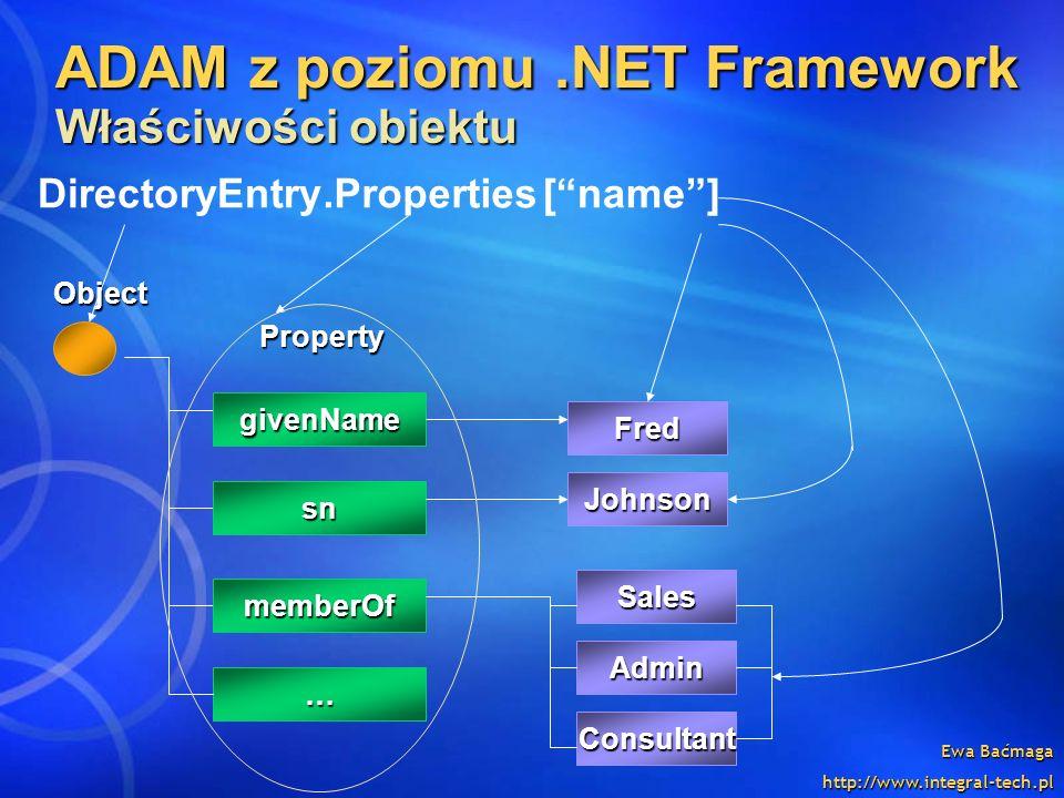 ADAM z poziomu .NET Framework Właściwości obiektu