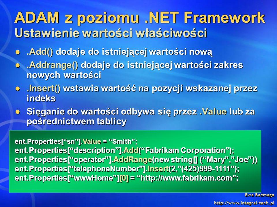 ADAM z poziomu .NET Framework Ustawienie wartości właściwości