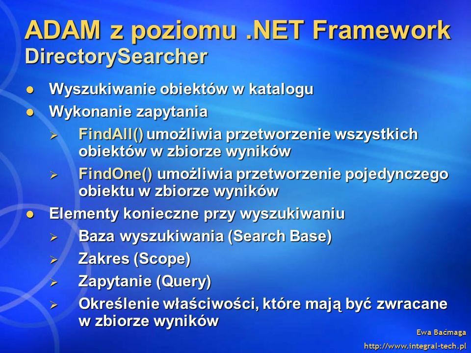 ADAM z poziomu .NET Framework DirectorySearcher