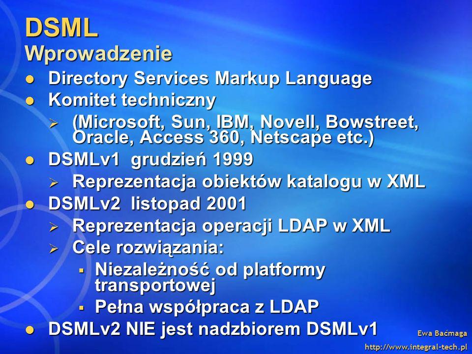 DSML Wprowadzenie Directory Services Markup Language