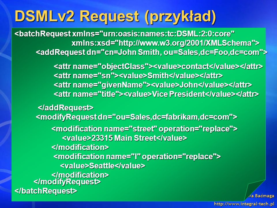 DSMLv2 Request (przykład)